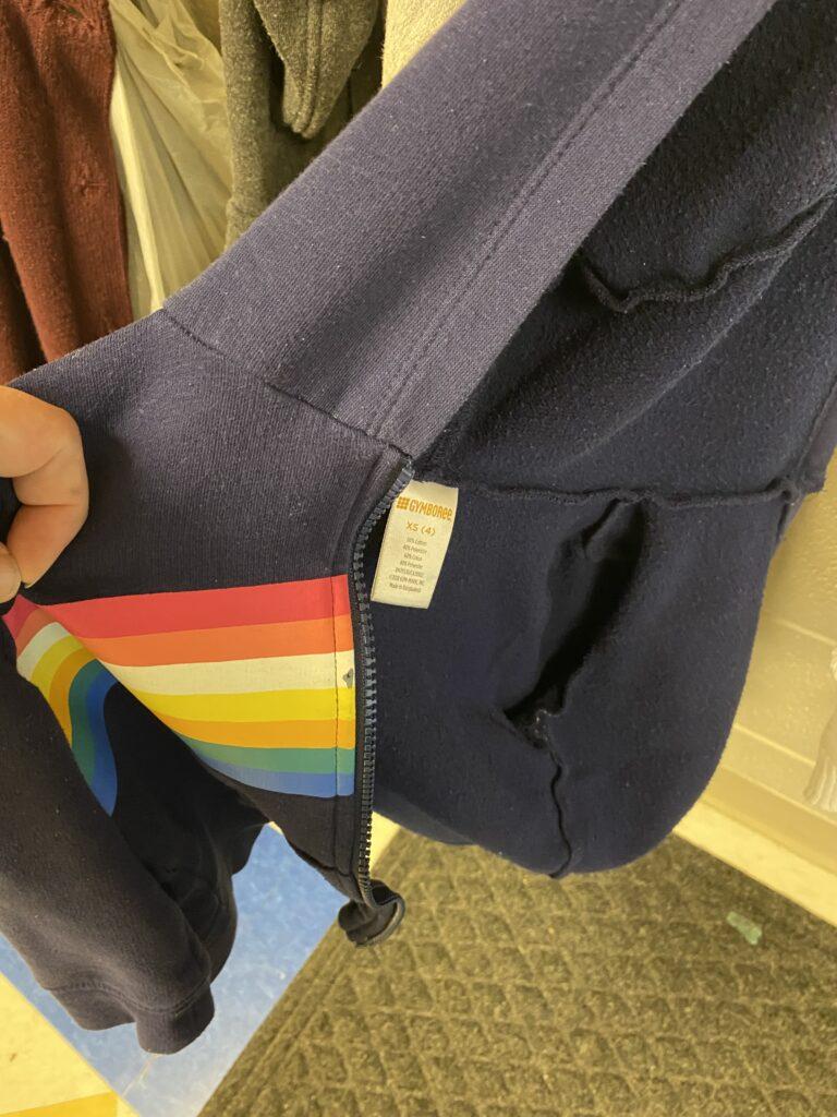 Gymboree rainbow jacket, size XS