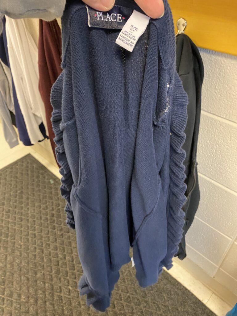 Children's Place blue cardigan, size 5/6