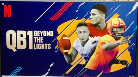 3 football players with the wording QB1 Beyond the Lights