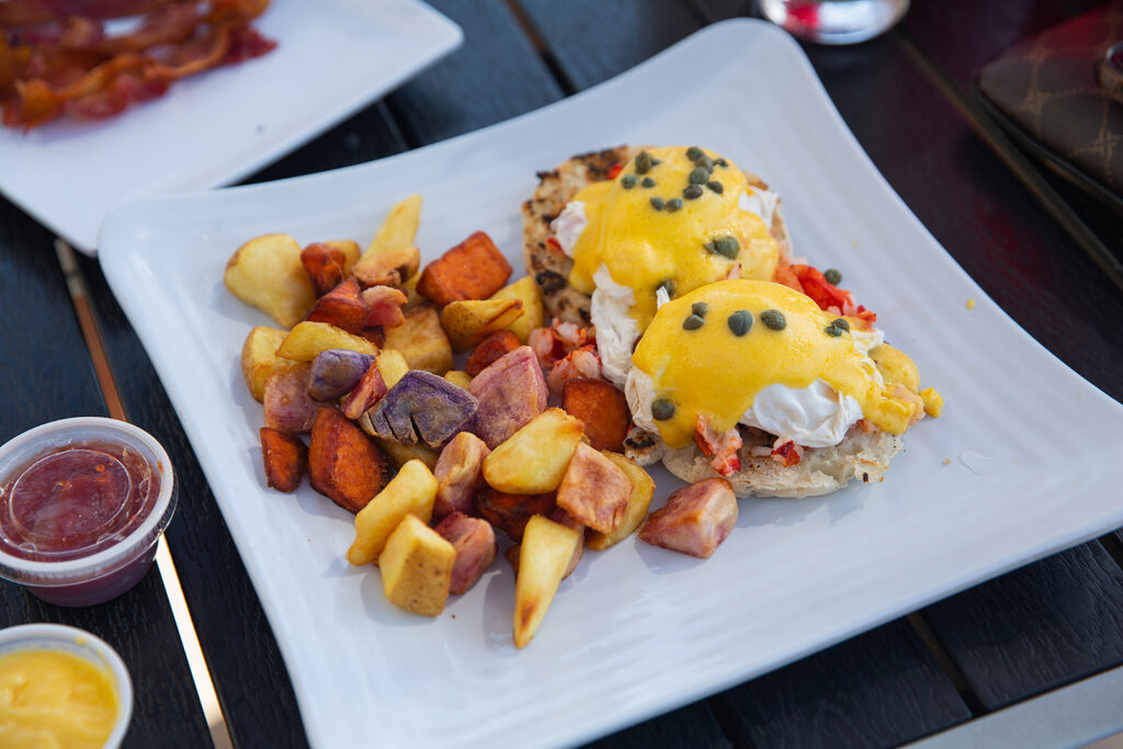 The Lobster Benedict at Sandbar Grill