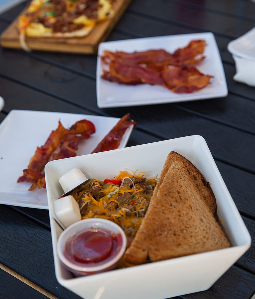 Assorted breakfast items at the Sandbar Grill at The Suntower Hotel & Suites