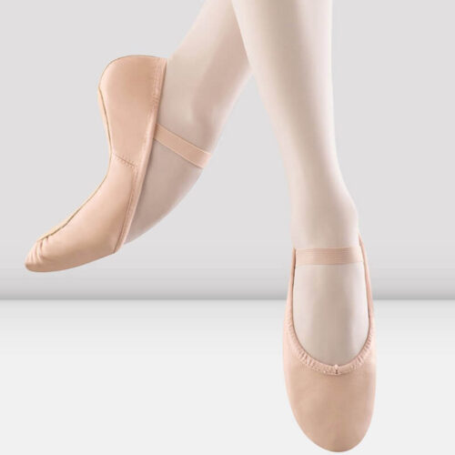 Dansoft Leather Ballet Shoe in Pink in Child Sizes
