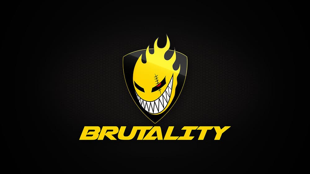 Team Brutality logo is a smiling fire.