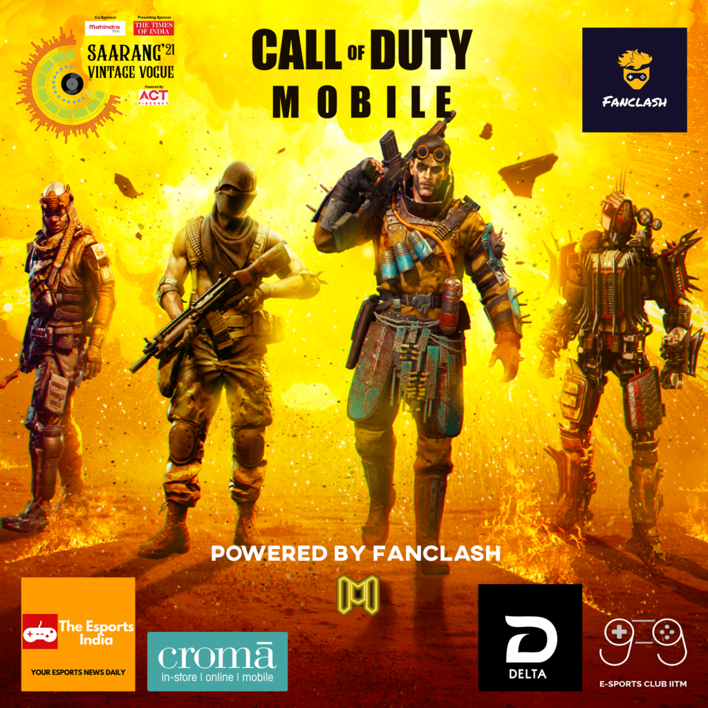 Call of Duty Mobile Esports Tournament at IIT Madras Saarang 2021 College Festival.