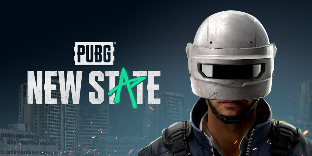Pubg New State Poster Containing character with helmet.