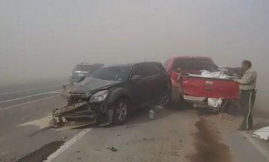 Carambola en la carretera a Juárez por tolvaneras