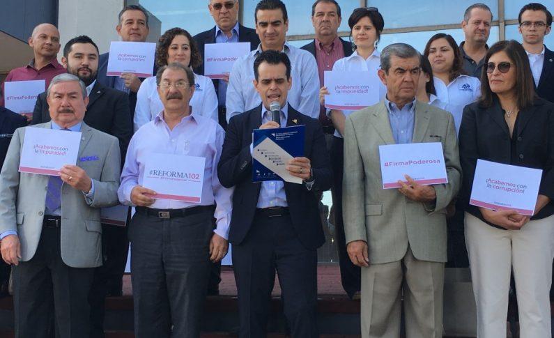Busca Coparmex recaudar 110 mil firmas para reformar el artículo 102