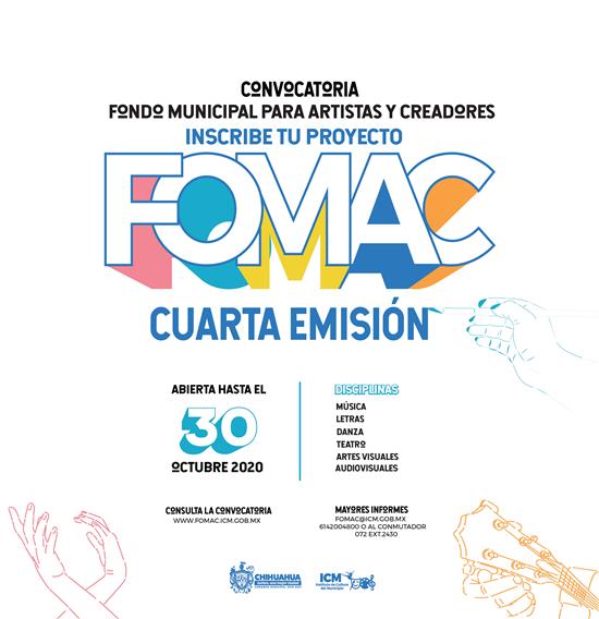 Llama Municipio a artistas y creadores a participar en la cuarta emisión de FOMAC