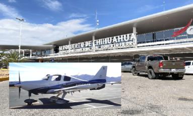 Decomisan en Presidio Texas avioneta robada en el aeropuerto de Chihuhua