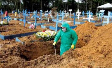 Registra Brasil más de 3 mil muertes al día por Covid-19