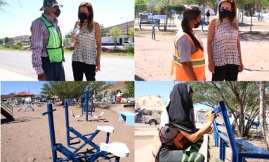 Supervisa Alcaldesa atención a parques de la ciudad