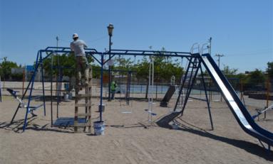 Atendió Gobierno Municipal 78 parques con trabajos de pintura durante mayo