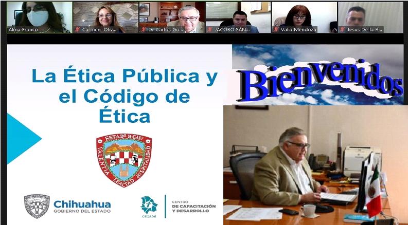 """Imparten curso """"Ética Pública y Derechos Humanos"""" al personal directivo de la Secretaría de Educación y Deporte"""