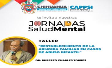 Invita CAPPSI a participar en conferencias y talleres virtuales de Jornadas de la Salud Mental 2021