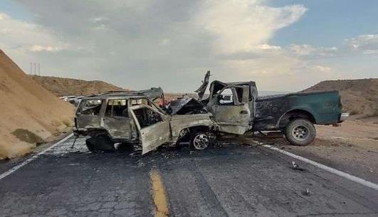 Aparatoso choque en carretera a Ojinaga deja cuatro heridos