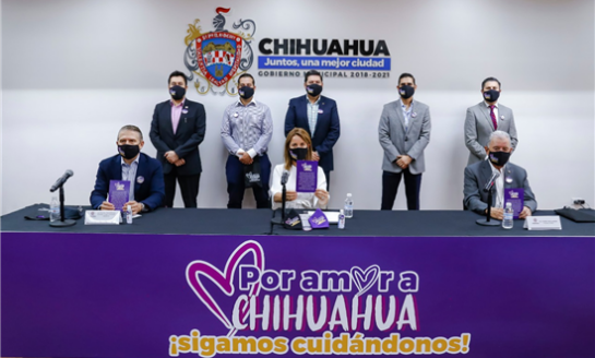 Por amor a Chihuahua,sigamos cuidándonos;Gobierno Municipal y empresarios lanzan campaña de concientización