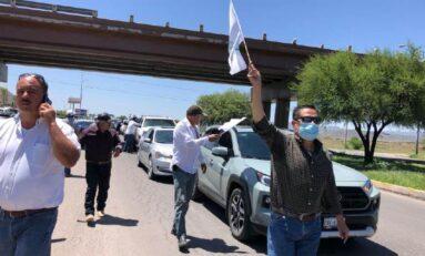 Llega caravana de productores; exigen a FGR liberación de Andrés Valles