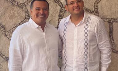 Foro Nacional para Presidentes Municipales Electos 2021; se reúne Marco Bonilla con alcalde de Mérida, Yucatán