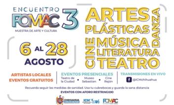 Conoce las actividades artísticas y culturales del Encuentro FOMAC 3