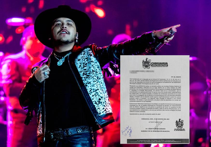 Determina Gobierno Municipal no otorgar permiso para el concierto de Christian Nodal