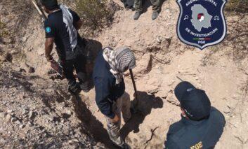 Fiscalía de la Mujer asegura osamentas y restos óseos en Valle de Juárez