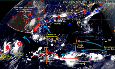 Frente frio 62; lluvias fuertes, descargas eléctricas ycaída de granizo, con posible formación de torbellinos o tornados: SMN
