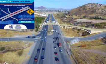 Se cerrará carril sobre prolongación Teófilo Borunda a la altura del Parque El Reliz