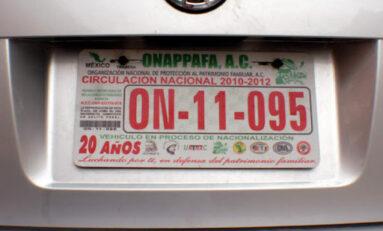 Posible regularización de vehículos para finales de septiembre: ONAPPAFA