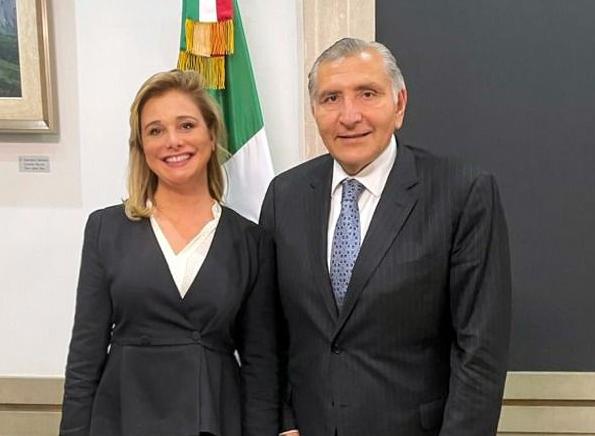 Se reúne gobernadora de Chihuahua con Secretario de Gobernación en la CDMX
