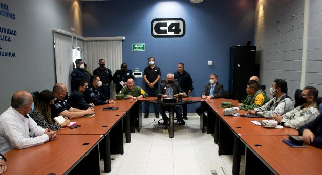 Acuerdan autoridades acciones para prevenir y combatir delitos en Cuauhtémoc