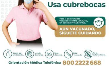 Seamos solidarios con quienes aún no se han vacunado contra la COVID-19; síguete cuidando: IMSS Chihuahua