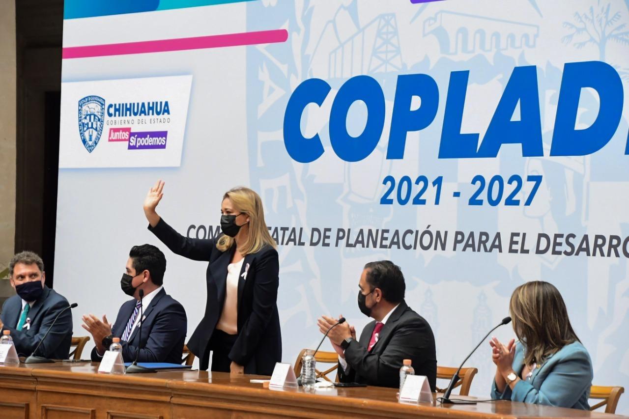Encabeza Maru Campos Asamblea Plenaria del Comité de Planeación para el Desarrollo del Estado de Chihuahua