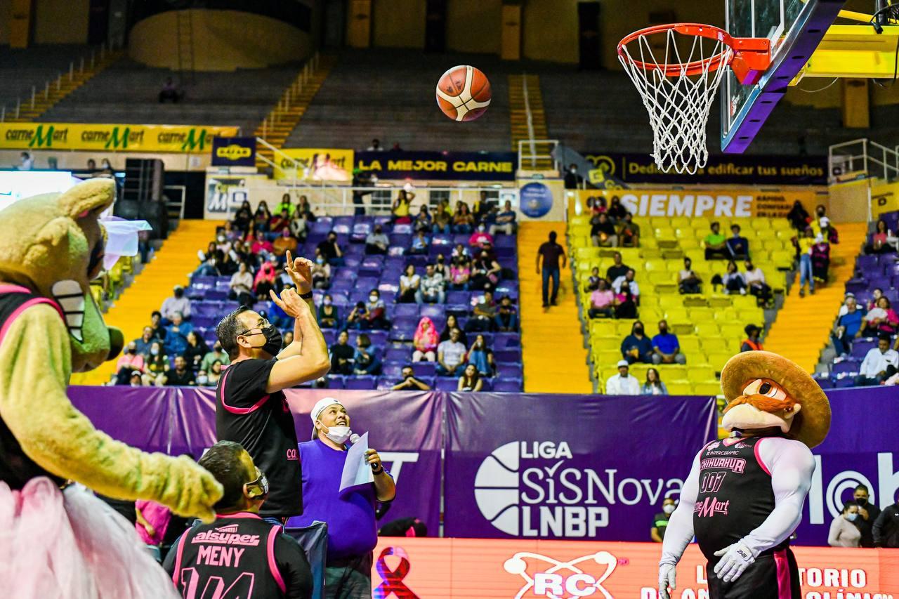 Lucha contra el cáncer de mama une a la afición de Dorados Basquetbol