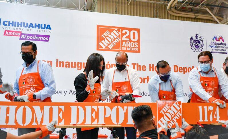 Inauguran Gobierno de Maru Campos e inversionistas segunda sucursal de The Home Depot en Chihuahua Capital