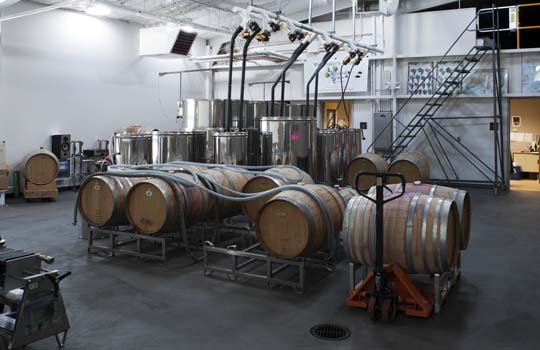 NW Wine Academy Barrel Room
