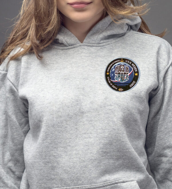 Pugs in Space – Federation of Canines Hoodie