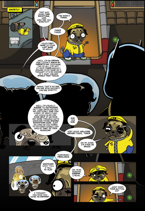 Pugs in Space: Issue 01 (Second Limited Edition) – Digital version