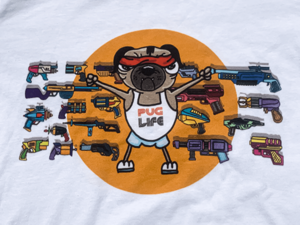 Pugs in Space – Pug Life T-shirt