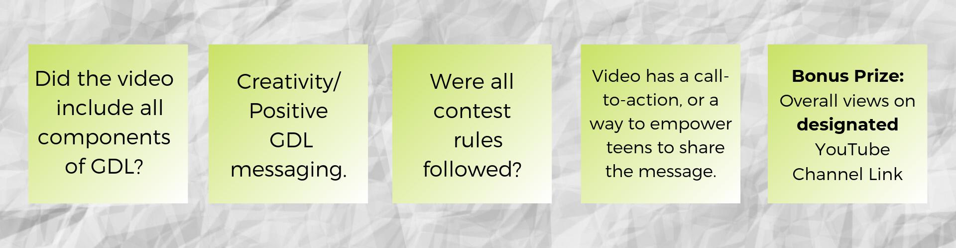official contest judging criteria