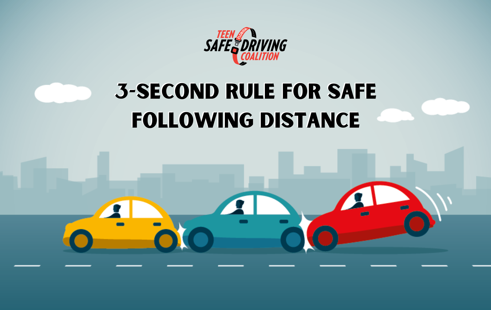 3-Second Rule for Safe Following Distance