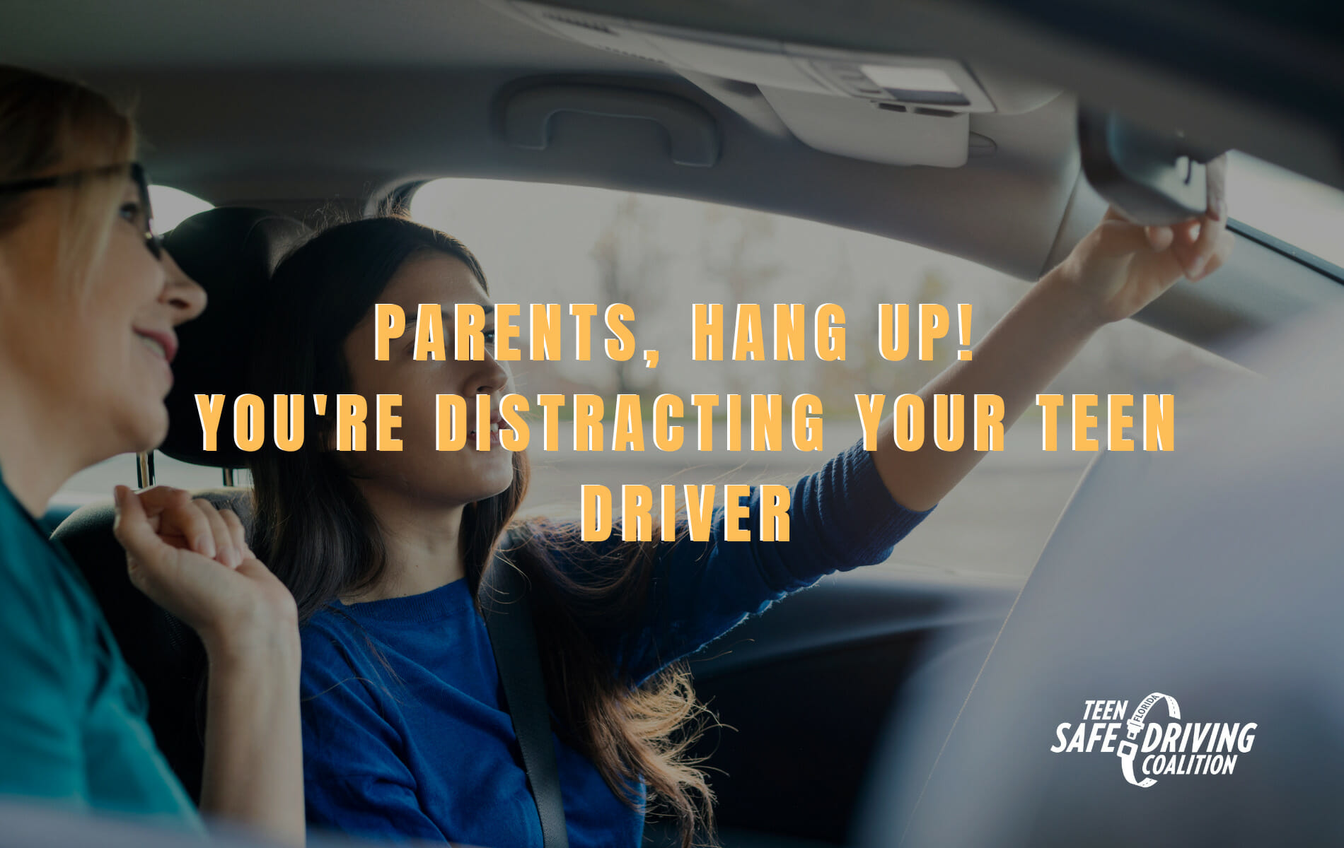 Parents, hang up! You're distracting your teen driver