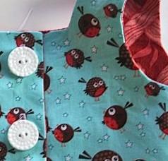 girls dress bodice buttons buttonholes