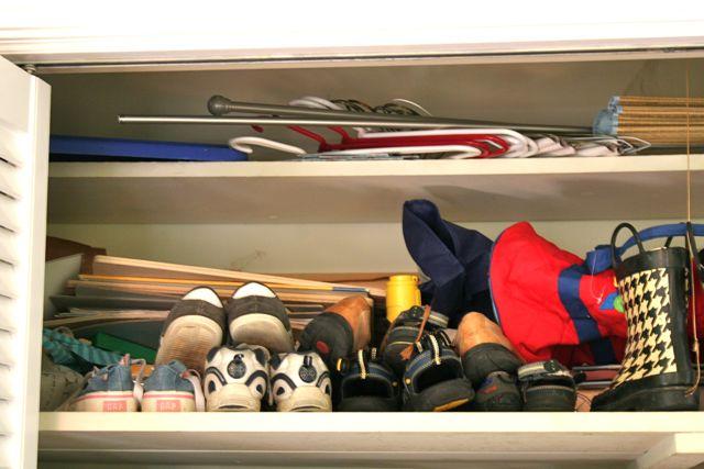 boy closet shelf
