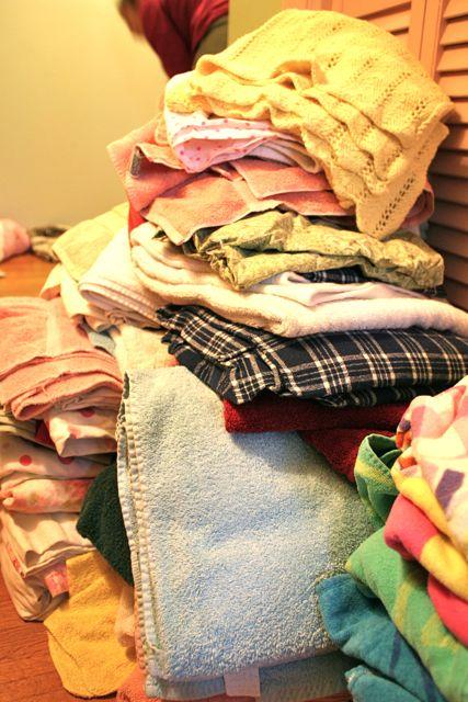 linen piles