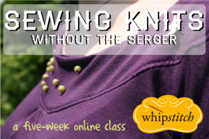 sewing knits button