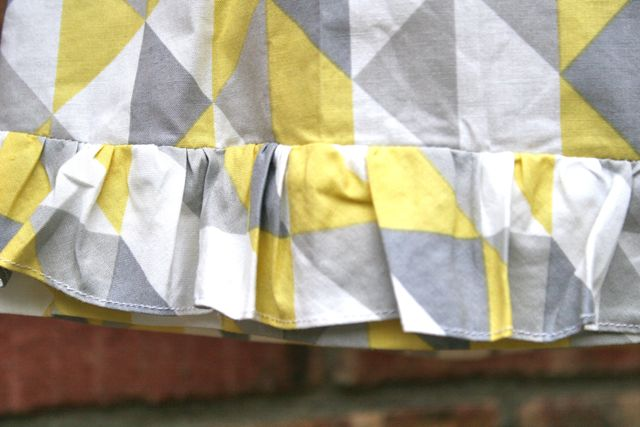 aline skirt ruffled hem | whipstitch