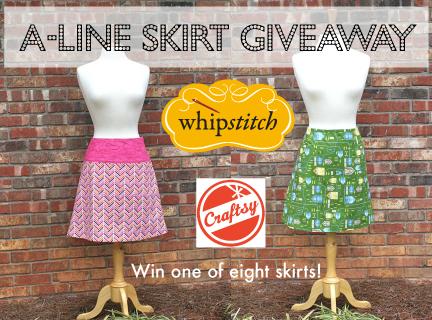 craftsy whipstitch aline skirt giveaway