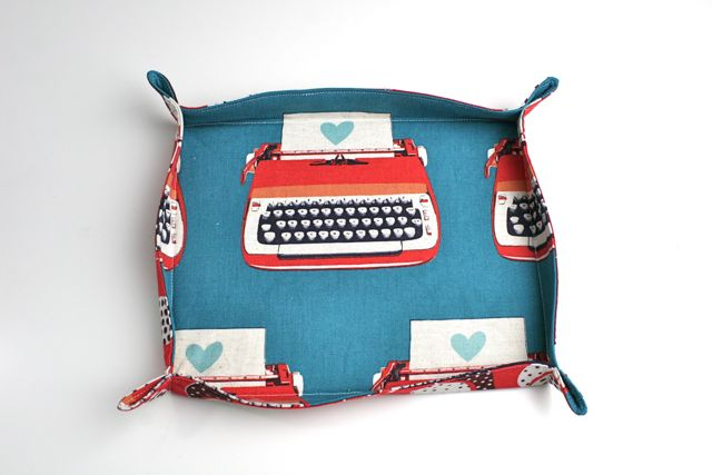 melody miller typewriter fabric basket