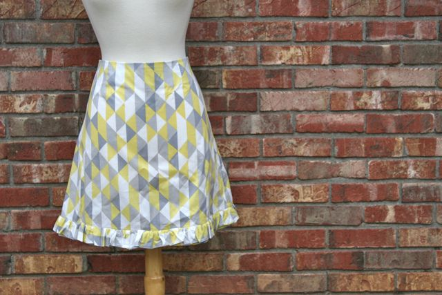 ruffled aline skirt | whipstitch