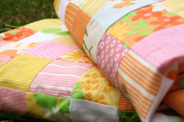 matching postage stamp quilts | Whipstitch